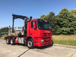 timber truck Mercedes Benz ACTROS 3360 V8 6X4 MIT HIAB 251S80 2013