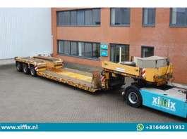 lowloader semi trailer Goldhofer 3-ass. dieplader met afneembare nek // PENDEL assen 2007