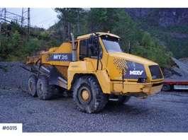 camión volquete de rueda Moxy MT 26 dumper m/ hvite skilt 2001