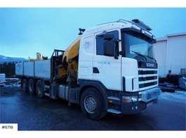 camion grue Scania R124 8x4 Effer 55h / m w / jibb, winch & crew bask 2003