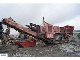 Brecher Terex J-1175 Jaw crusher with lots of equipment. WATCH V 2010