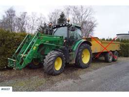 trattore agricolo John Deere 6125R w/good tires and loader. See hours! 2013