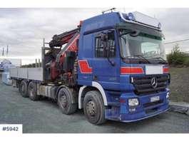 crane truck Mercedes Benz 3251 8x4 truck w/ Fassi 110 t/m crane 2008