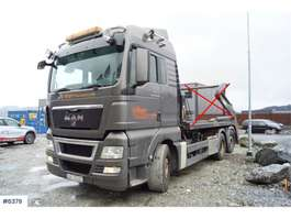 container truck MAN TGX26.540 6x2 Hook lift with Joab 20t lift and swi 2011