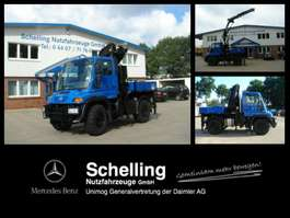 crane truck Unimog U 300 Kran MKG HLK121 HPa*mich kann man mieten*