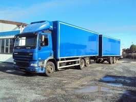 camión frigorífico DAF 85.410 Kühlkoffer 6x2 Schalter Euro 5 + Tandem Koffer 18 to 2007