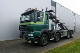 container truck DAF CF460 8X4 MANUAL STEEL SUSPENSION HUB REDUCTION EURO 5 2009