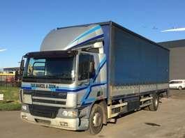 closed box truck DAF CF 75 250 2001