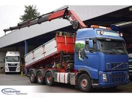 camião basculante Volvo FH 16 - 580, Hiab 377 EP5, 8x4, Truckcenter Apeldoorn 2008