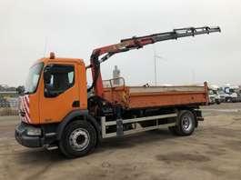 tipper truck Renault Midlum 270.18   3 S Kipper- Kran Palfinger 7501  4x hydr + greifer 2003