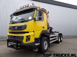 camión contenedor Volvo FMX 460 - 6x6 -Haakarm, Hooklift, Abrolkipper 2011