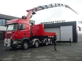 caminhão guindaste Scania R500 V8 8x4 Tractor PK 85002F Jib PJ 170  Retarder 2010