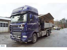 caminhão guindaste DAF XF 105.510 6x4 snowrigged crane truck w/3-way tip. 2011