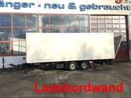 closed box trailer Möslein TKO 105 Schwebheim  Tandemkoffer mit Ladebordwand 2013
