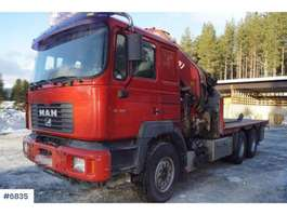 caminhão guindaste MAN FE460 kranbil m/ 44 t/m kran og jibb 2002