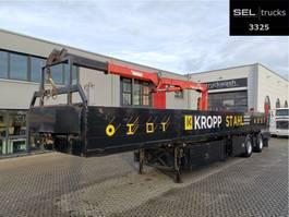 flatbed semi trailer Schmidt Cordes C SAKL 300 / Lenkachse / Ausschub 1999