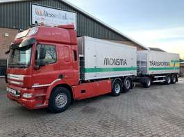 tipper truck DAF CF 85 ATe 6X2 FAR Kippercombi EURO 5 Kombi 2013