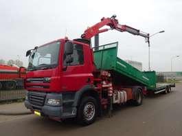tipper truck DAF 85 CF 360 !! KIPPER + CRANE !! EURO 5 !! 2007