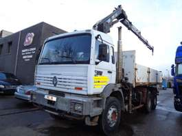 tipper truck Renault G 340 HIAB 144BS-3DUO 1996