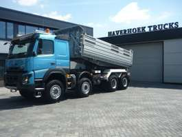 tipper truck Volvo FMX 540 8x6  Euro 6  3 Side Meiller Tipper 2014