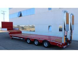 Tieflader Auflieger Rojo Trailer Machine-carrier Low-loader 3 axles