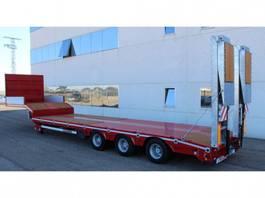 lowloader semi trailer Rojo Trailer Machine-carrier Low-loader 3 axles
