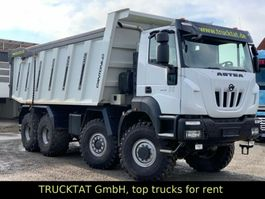 drop side truck Iveco Astra HHD9 86.54 8x6, 28 m³, Nutzlast 40 t. 2017