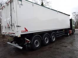 tipper semi trailer Stas Aluminium kiep oplegger. Ook te huur. 2017