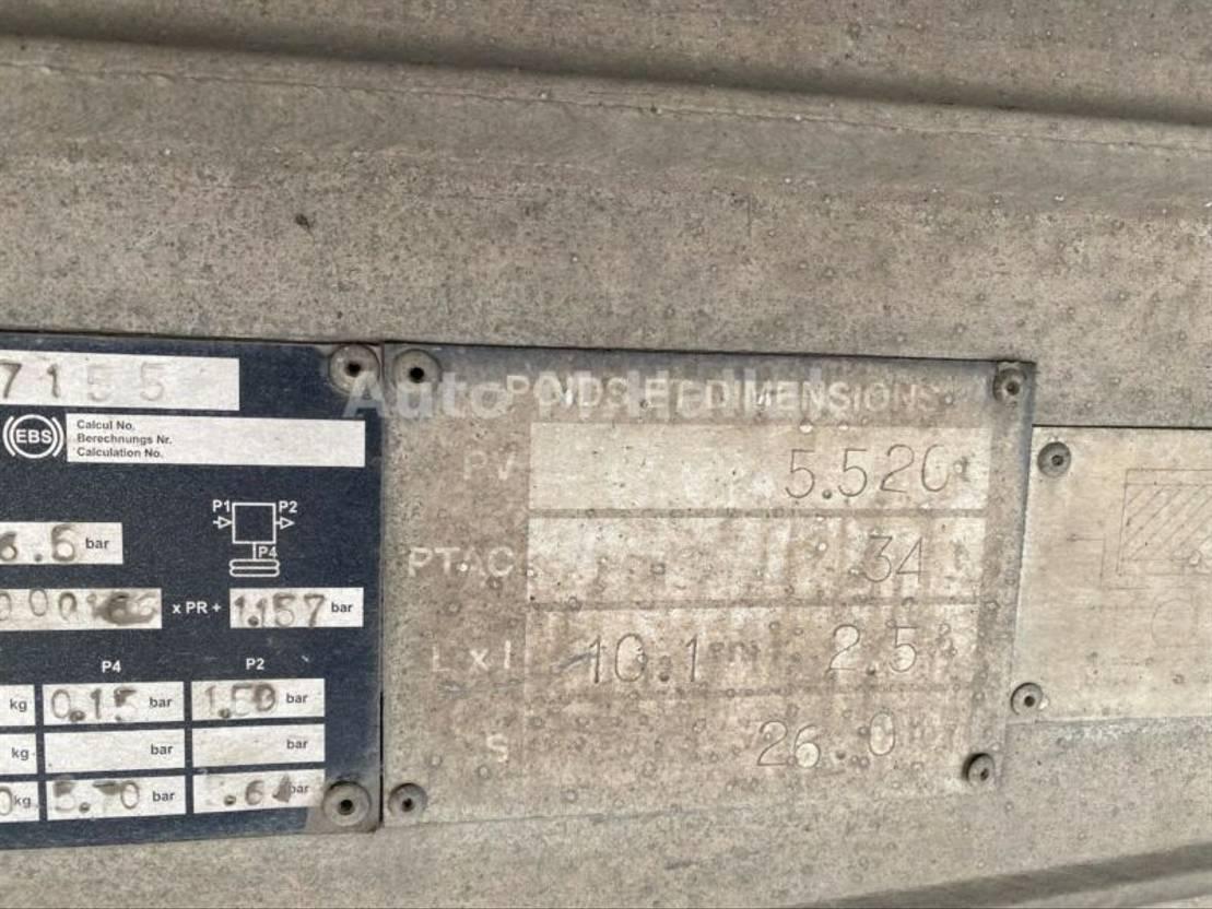 Kipper Auflieger Benalu 3 Achs Voll Alu Kipper 26m2 Liftachse