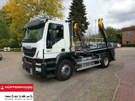 container truck Iveco Stralis AD 190 4x2 Palfinger PST14 Absetzkipper 2018