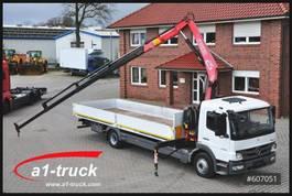 drop side truck Mercedes Benz 1222L Fassi F95 Kran, Luft, L 7500mm 2011