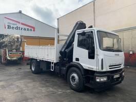 crane truck Iveco Eurocargo 180E28 Hiab 144 D-2 CL 2004