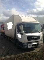 Koffer Transporter < 7.5 tonnen MAN TGL 8.180 Ladeboardwand