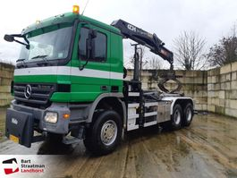 container truck Mercedes Benz 3341 6x6 haakarm kraan remote control 2006