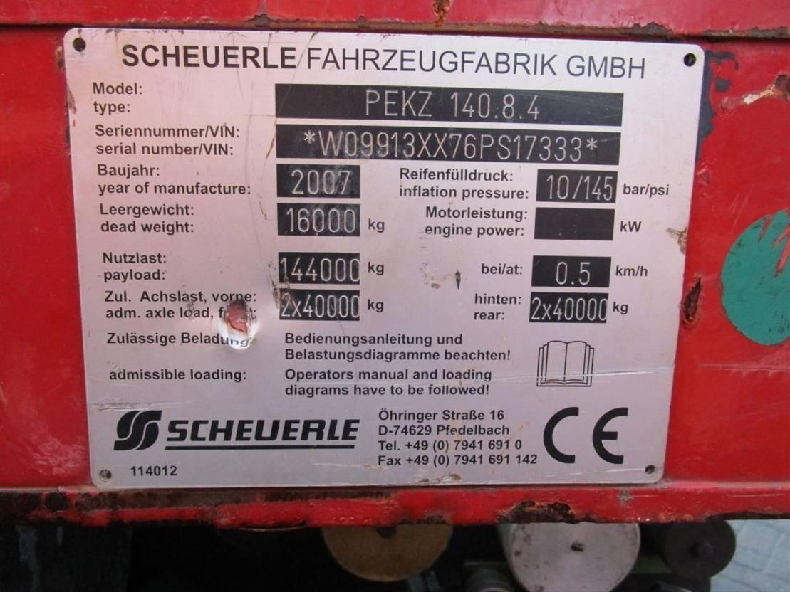 semi lowloader semi trailer Scheuerle SPMT 4 Axle Module 2007