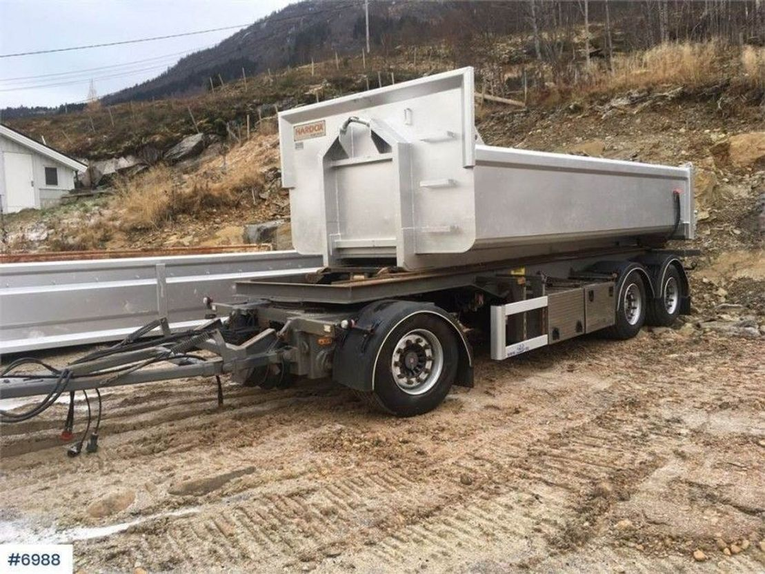 other full trailers DIV. Nor-Slep SL-27KT 3 axle hook trailer with tipp 2008