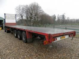 flatbed semi trailer Groenewegen 3-assige oplegger 1992