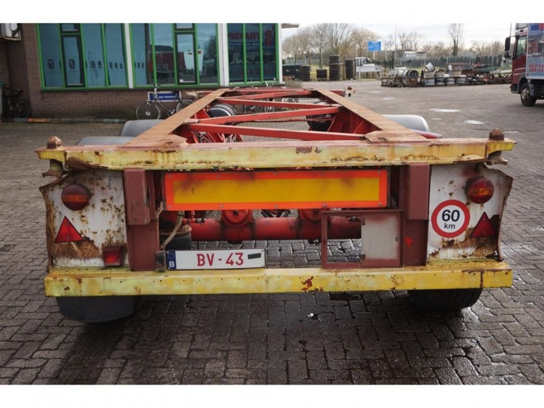 container chassis semi trailer Van Hool Container chassis 20ft. 1992
