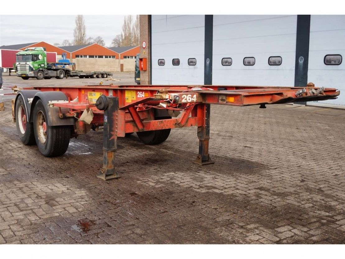 other semi trailers Van Hool Container chassis 20ft. 1982