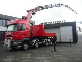 crane truck Scania R500 V8 8x4 Tractor PK 85002F Jib PJ 170  Retarder 2010