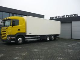 closed box truck Scania R480 6x2-4 euro 5 Retarder 2009