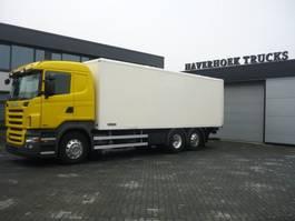 closed box truck Scania R480 6x2-4 euro 5 Retarder 2009