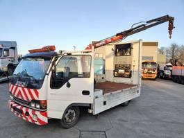 Pritschenwagen  Isuzu NQR 70 T + Crane HMF Handy 260 2005