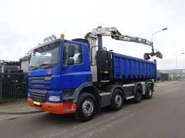 container truck Ginaf X 4241 8 X 4 + NCH KABEL + HMF 1250 CRANE 2009