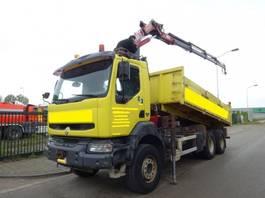 tipper truck > 7.5 t Renault KERAX 420 DCI 6 X 4 KIPPER + HMF 1820 CRANE !! 2004