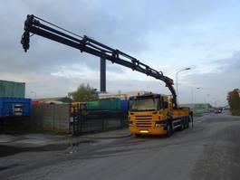 platform truck Scania P 380 8 X 4 TRIDEM + PALFINGER PK 29002 2006