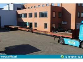 flatbed semi trailer Broshuis 3-ass. Vlakke dubbel (2x) uitschuifbare oplegger // 3x gestuurd 1996