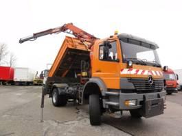 tipper truck > 7.5 t Mercedes Benz Atego 1828AK manuell Meiller Kran Atlas Klima 2001