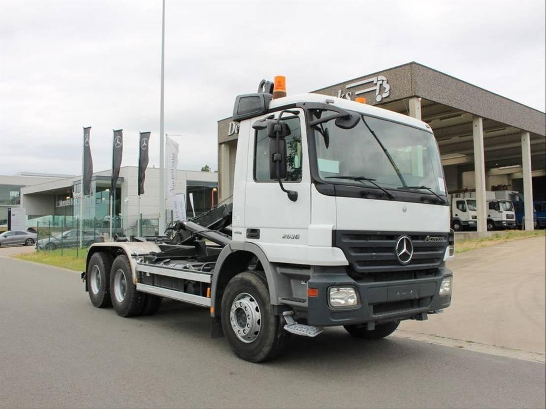 Mercedes Benz 2636 Actros 6x4 Containerwagen Kort Container