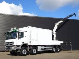 closed box truck > 7.5 t Mercedes Benz ACTROS 4151AK 8x8 E5 / SERVICE TRUCK / CRANE / KRAN WERKSTAT 2010